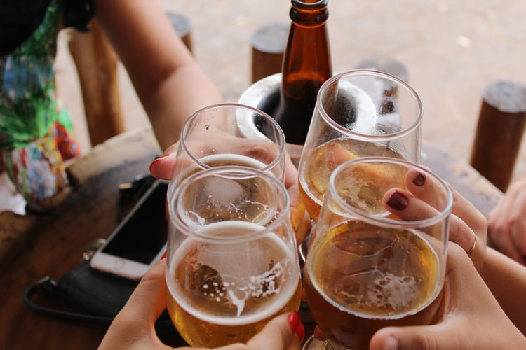 Consumo de calorías en las bebidas alcohólicas